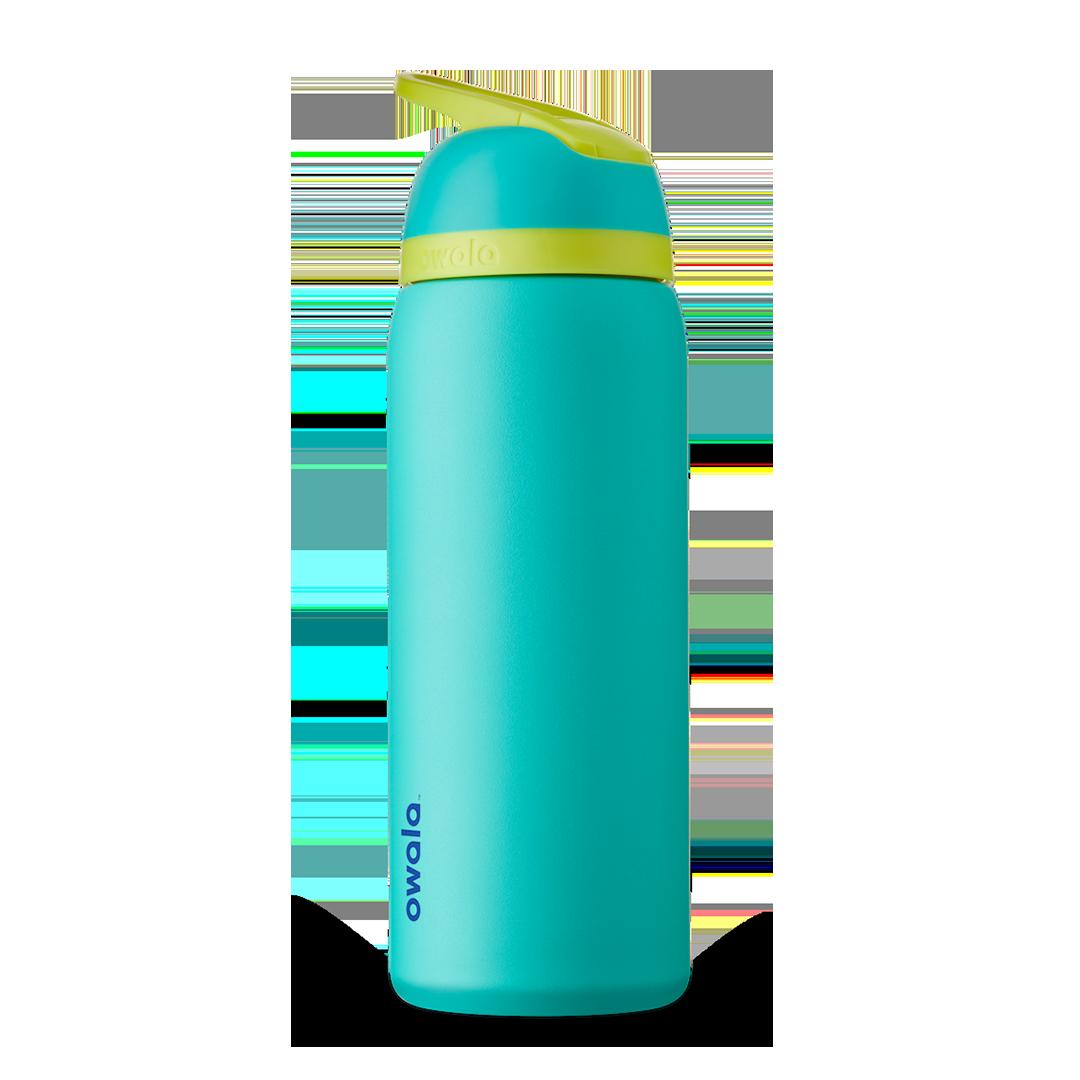 Бутылочка для воды c закрытым горлышком OWALA FreeSip Stainless Steel 24oz Neon Basil 709 мл