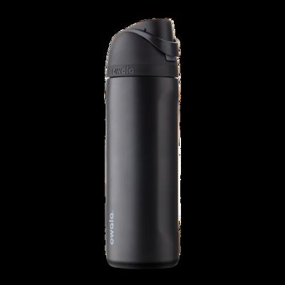 Бутылочка для воды c закрытым горлышком OWALA FreeSip Stainless Steel 24oz Very, Very Dark 709 мл