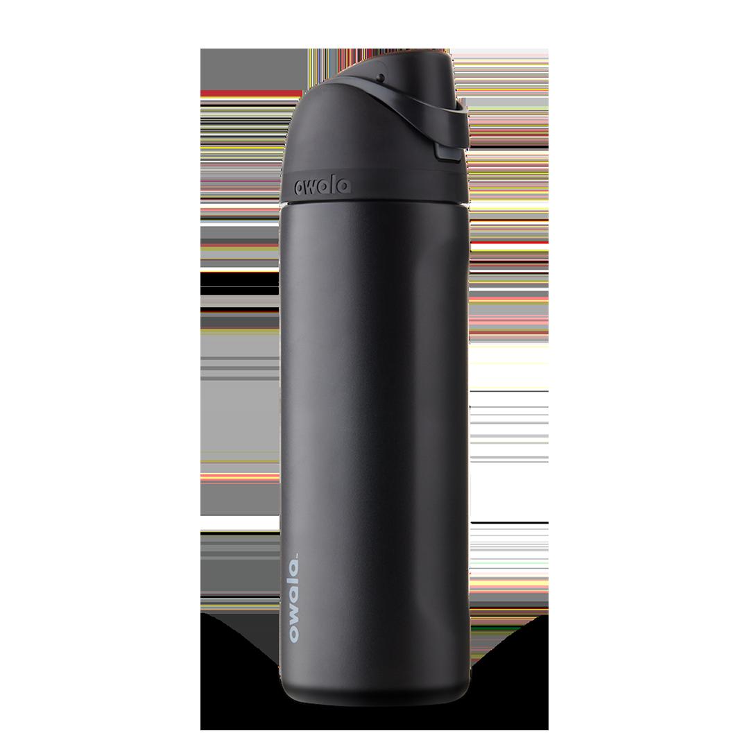 Бутылочка для воды c закрытым горлышком OWALA FreeSip Stainless Steel 24oz Very, Very Dark 946 мл