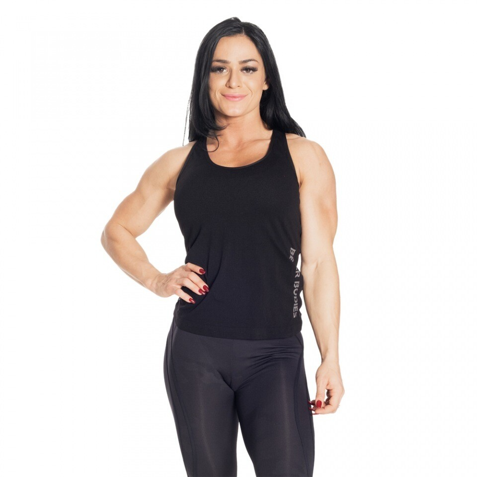 Топ Seamless Mesh Tank Black Better Bodies