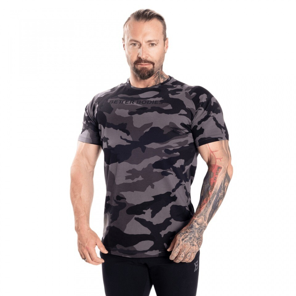 Футболка Gym Tapered Tee Dark Camo Better Bodies