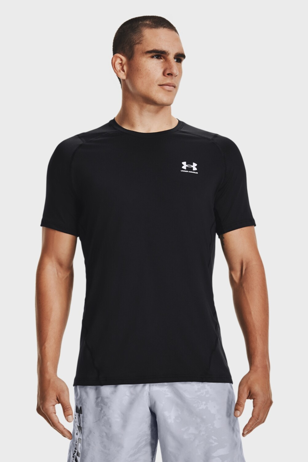 Рашгард HG Armour Fitted SS Black Under Armour