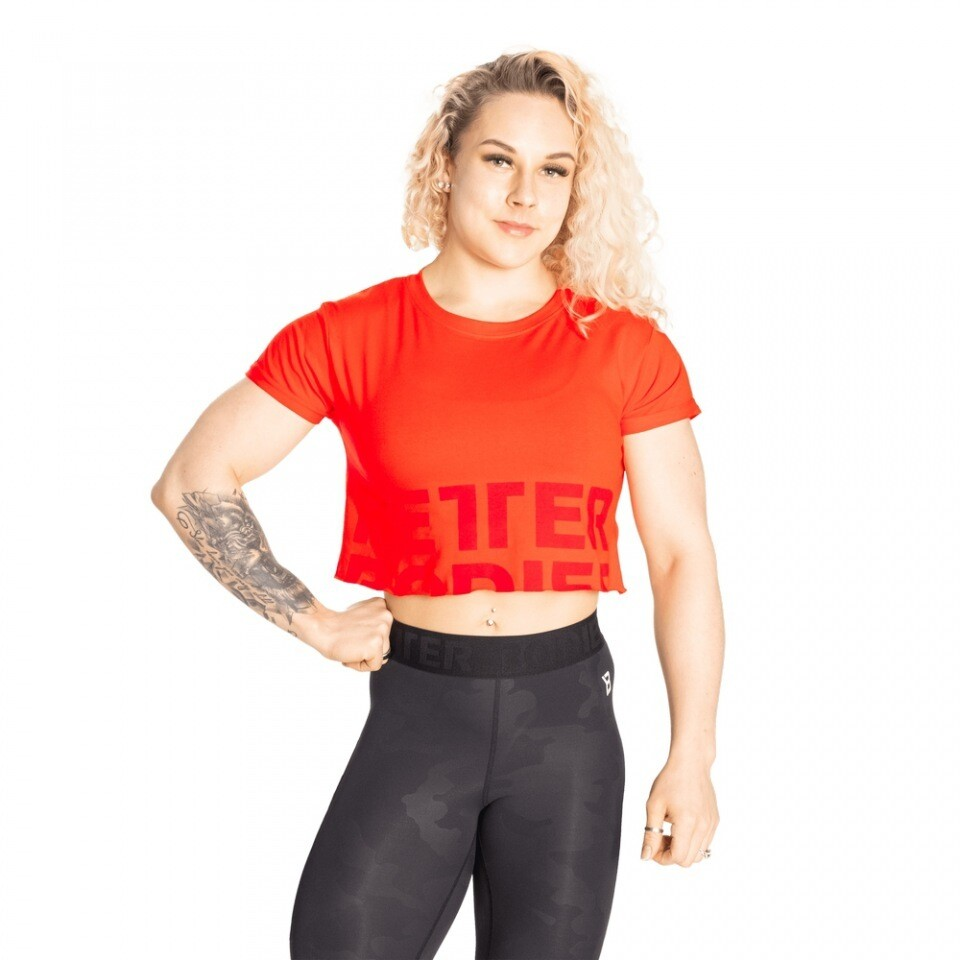 Топ Astoria cropped tee Sunset Red Better Bodies
