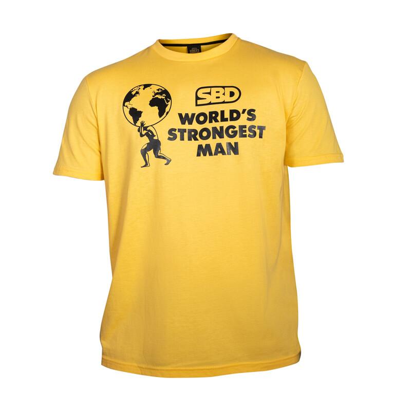 Футболка World's Strongest Man 2021 Yellow SBD