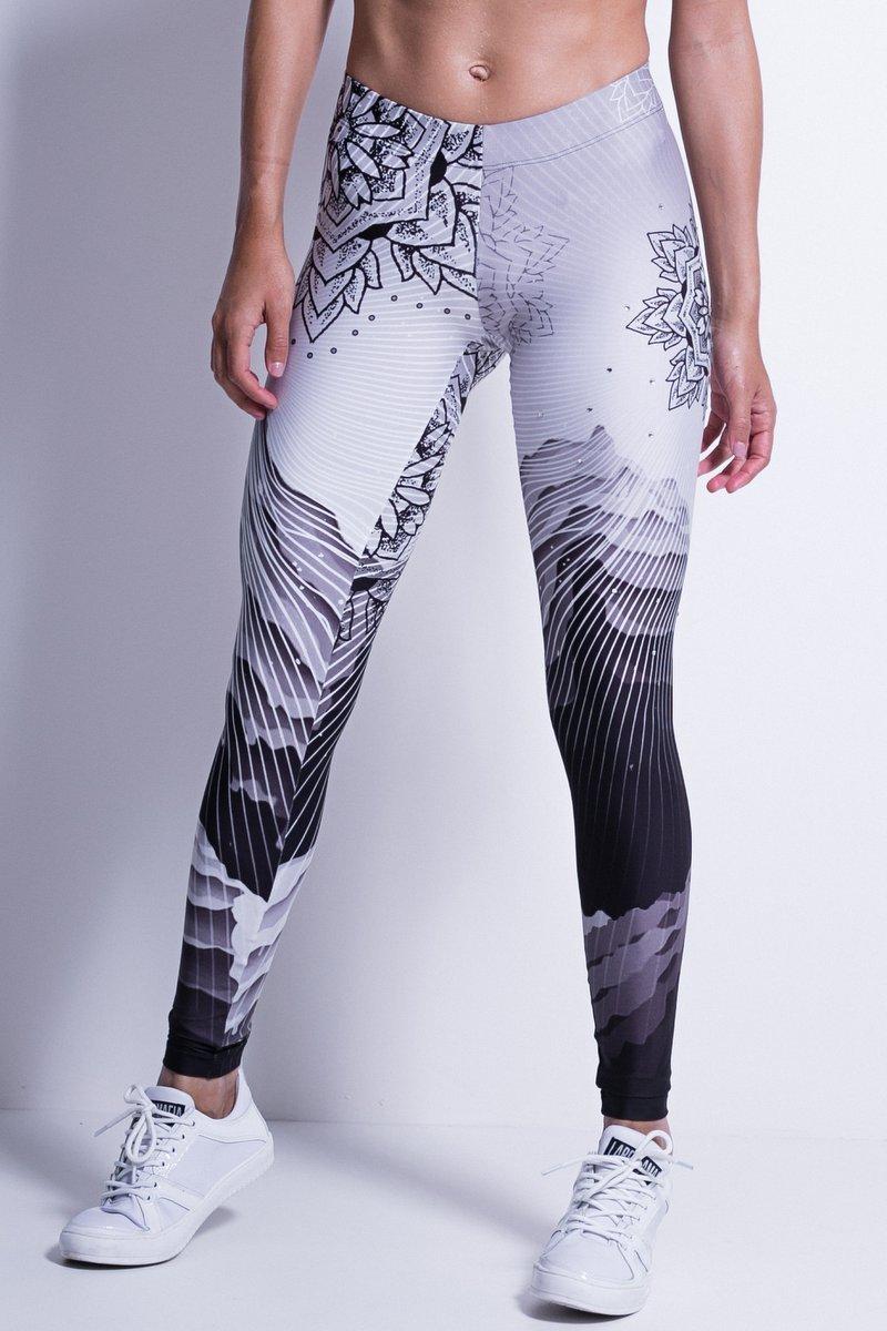 Спортивные лосины для фитнеса Labellamafia Mandala White