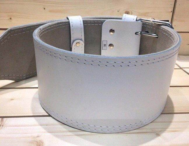 Кожаный пояс-ремень для пауэрлифтинга COBRA с пряжкой-зацепом, трехслойный