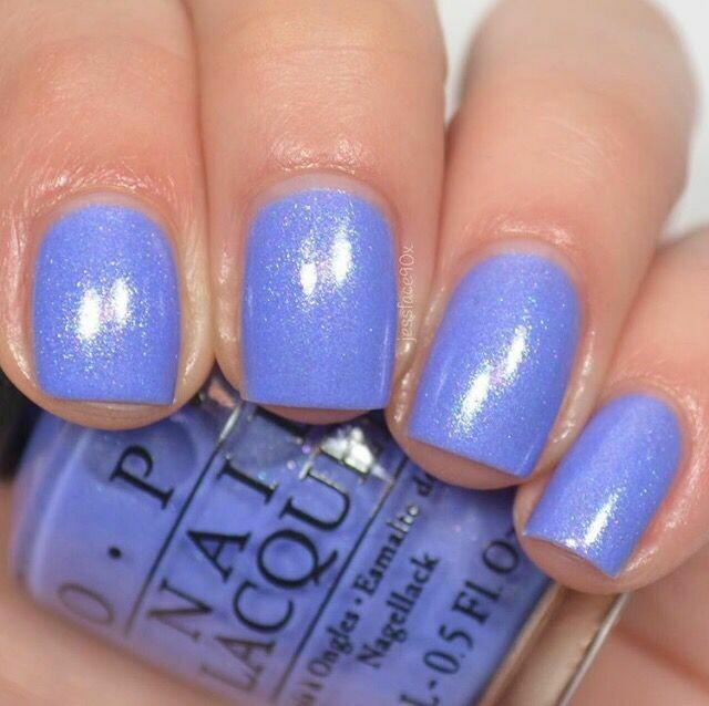 Nagellak OPI 15ml N62 licht blauw glitter