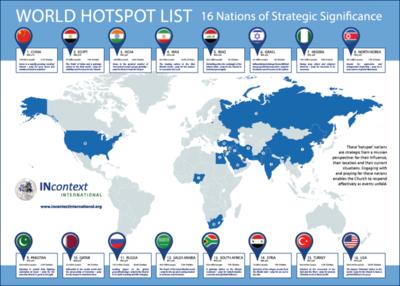 World Hotspot List - Map