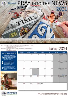 Pray into the News 2021 Calendar