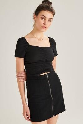 24 Colours Skirt Black Denim