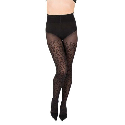 Nomi Shaping Leopard Tights | Black