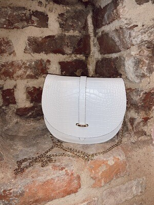 Moon Bag | Leather White | Gold