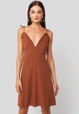 Rut & Circle Elli Dress | Rusty Brown