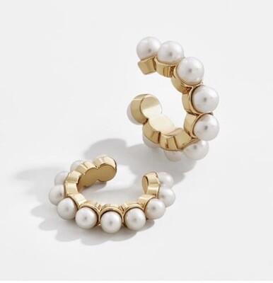 Margot Bardot Earcuff | Pearl Gold