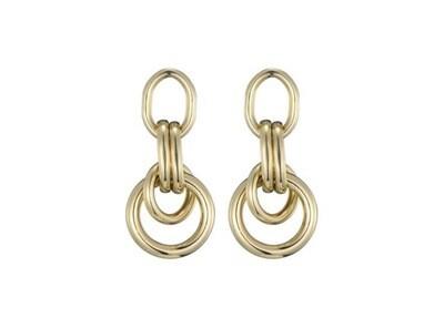 Margot Bardot Earrings | Double Hoop Gold