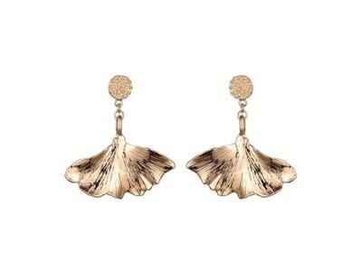 Margot Bardot Earrings | Lotus Gold