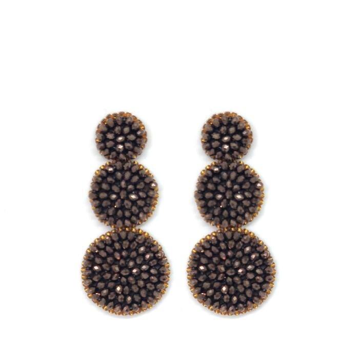 Paulie Pocket Brown Beads Earrings