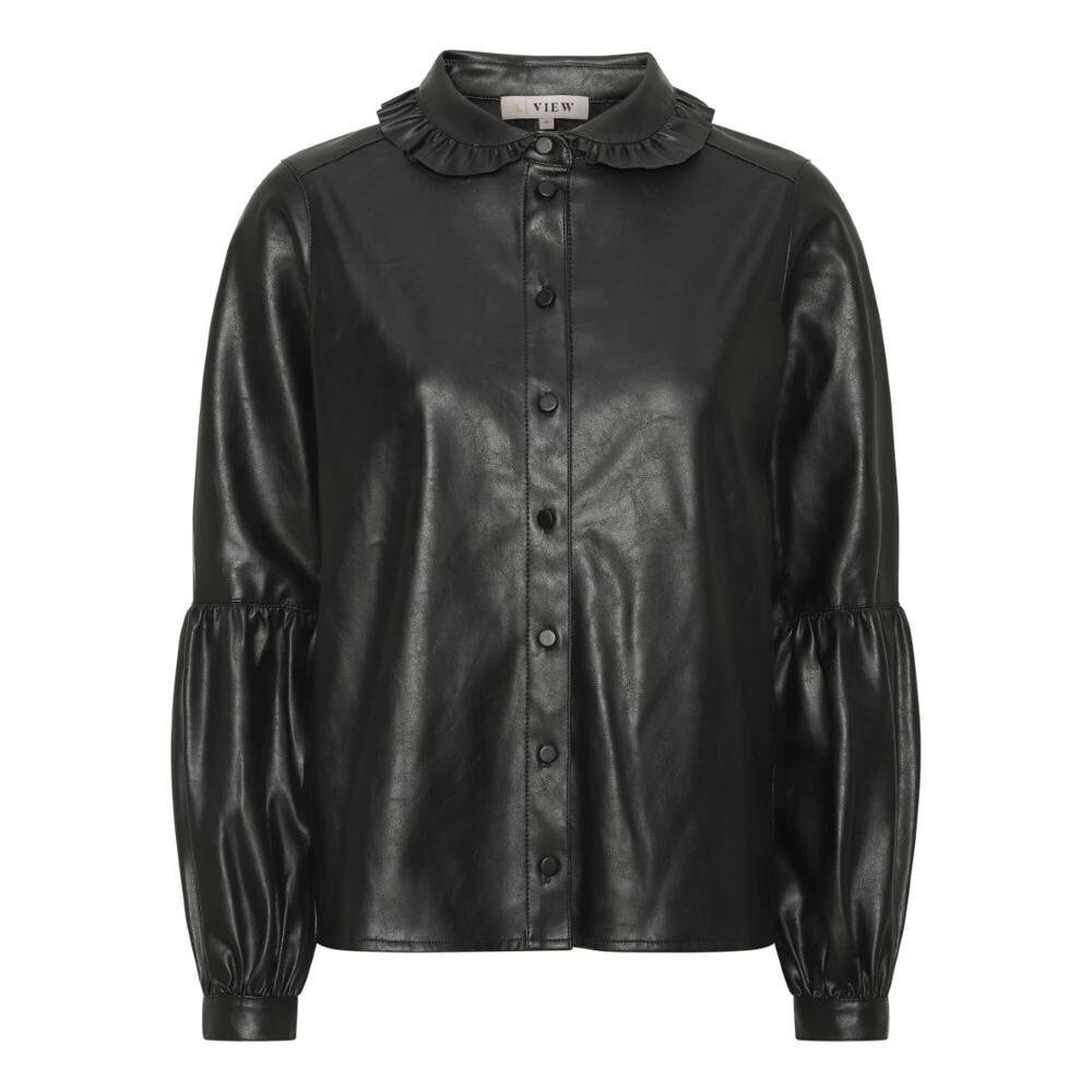 A-Vieuw Pu Shirt Jennifer | Black