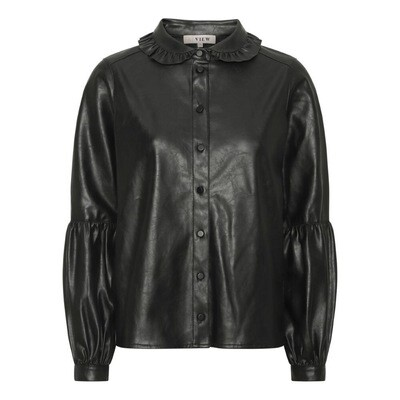 A-Vieuw Pu Shirt Jennifer | Black