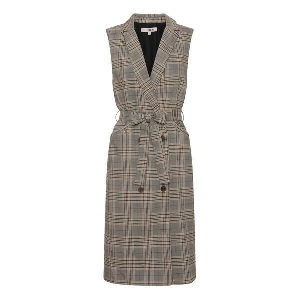 A-Vieuw Waistcoat Dress   Janna Long   Beige