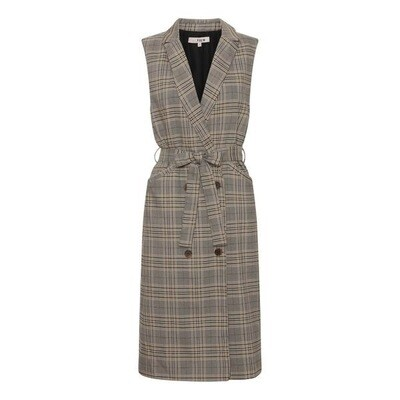 A-Vieuw Waistcoat Dress | Janna Long | Beige