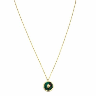 ZAG Ketting Luxury Pendant Malachite Green Scarabee | Goud