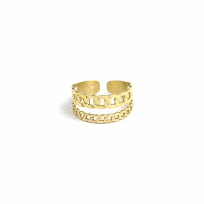 ZAG Ring Double Gourmet Layer | Goud
