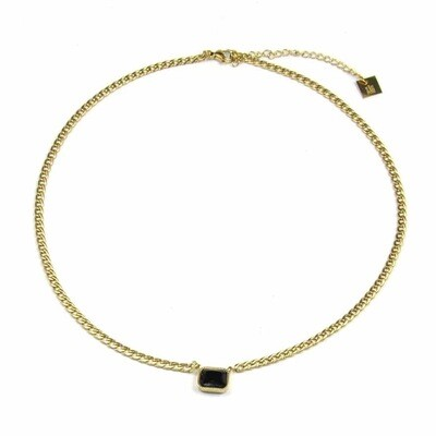 ZAG Ketting Golden Chains Onyx Stone | Goud