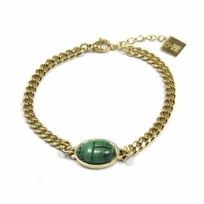 ZAG Armband Malachite Stone Chains | Goud
