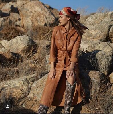Ibana Deena Dress | Cognac