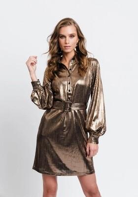 Rut & Circle Serena Dress | Gold