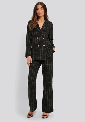 Rut & Circle Grace Pant | Black Check