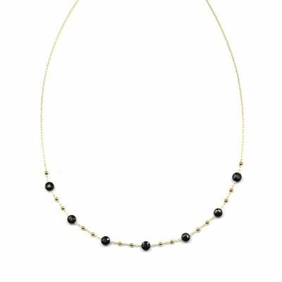 Zag Bijoux Ketting Onyx Golden Chain Balls | Goud