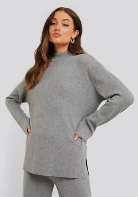 Rut & Circle Maja Knit Top   Grey Melange