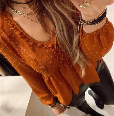 24 Colours Stella Blouse | Rust
