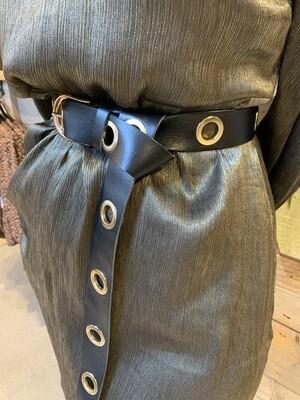 Las Lunas Belt Knot Up | Black-Gold