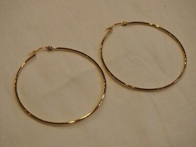 Zag Bijoux Earrings Paris Round | Gold