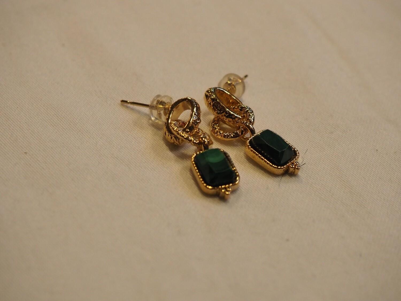 Zag Bijoux Earrings Green Love | Gold