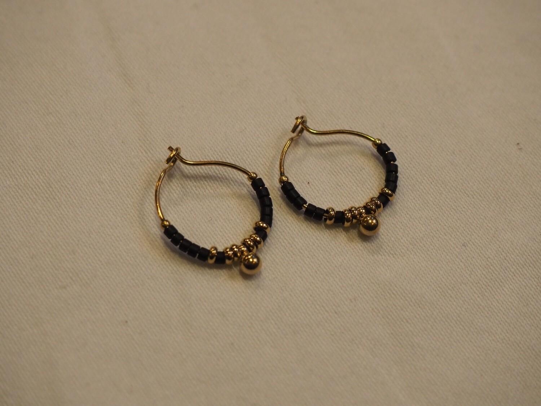 Zag Bijoux Earrings Lilly Black | Gold