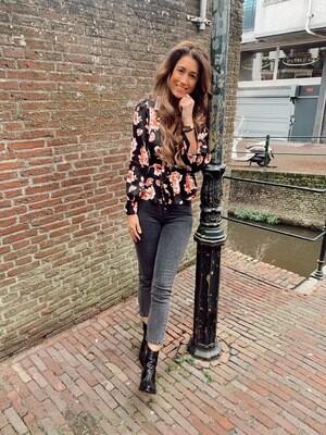 Rut & Circle Nora High Waist Jeans   Grey