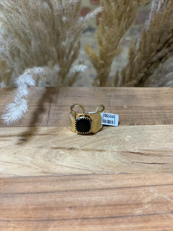 Zag Bijoux Ring Fan | Gold-Black