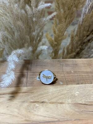 Zag Bijoux Ring Dragonfly | Gold-White