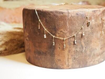 Zag Bijoux Chain Squares Stone | Gold