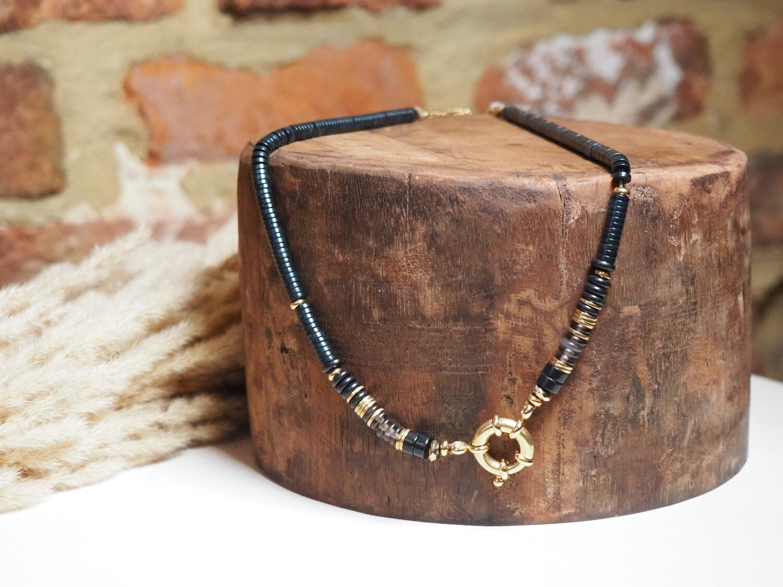 Zag Bijoux Chain Black Beads