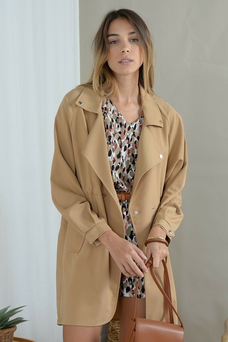 Molly Bracken Trench Coat Camel
