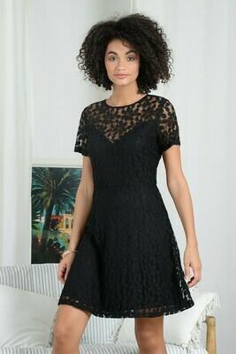 Molly Bracken Lace Dress Shine  Black