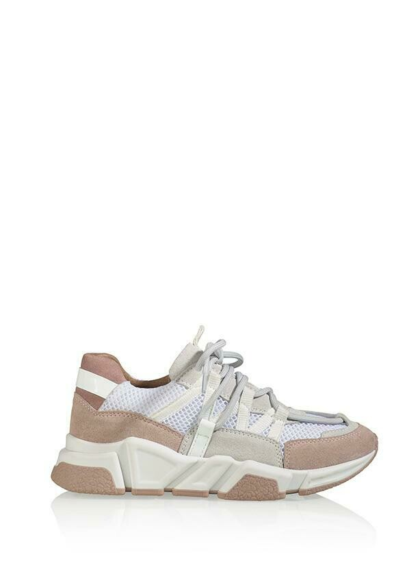 DWRS Label Los Angeles Suede White/Rose pink