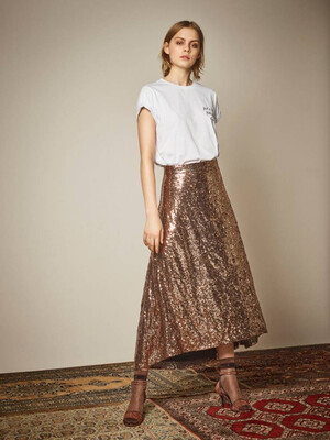 Gestuz Tito Skirt - Brons (outlet)