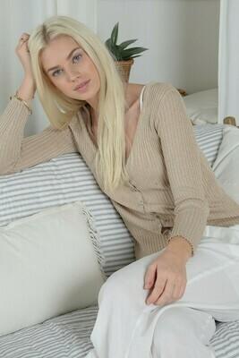 Molly Bracken Knitted Gardigan Fabulous Beige