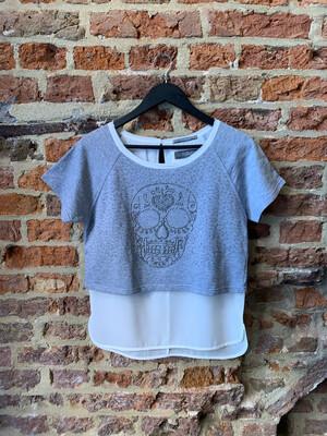 Silvian Heach Shirt Skull- Grey/White (outlet)